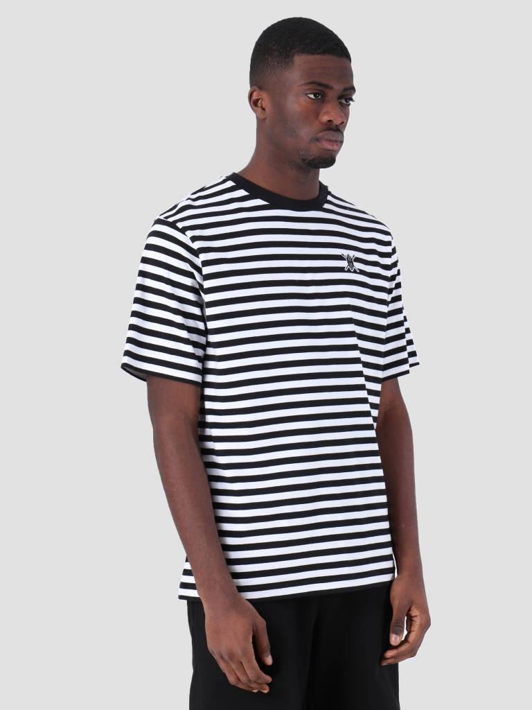 Daily Paper Daily Paper Essential Striped T-Shirt Black White 00N1TS04-01