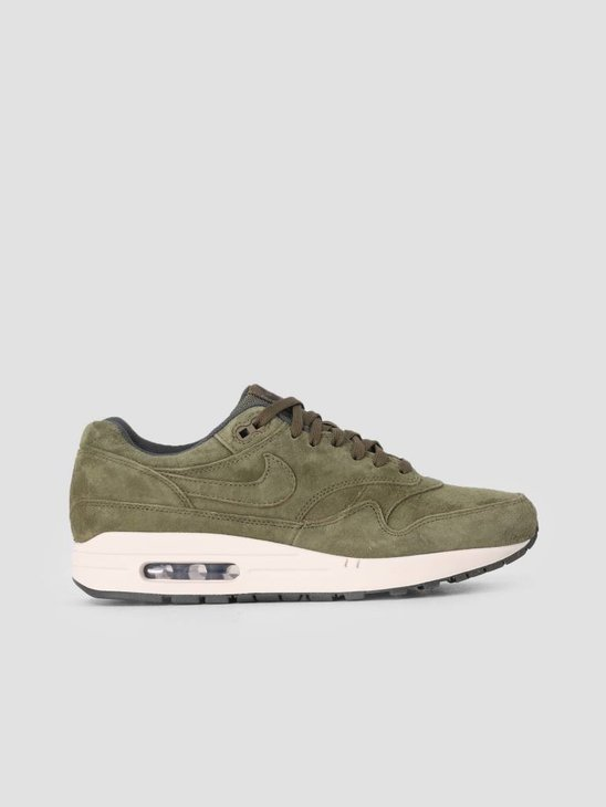 Nike Air Max 1 Premium Shoe Olive Canvas Olive Canvas Sequoia 875844-301