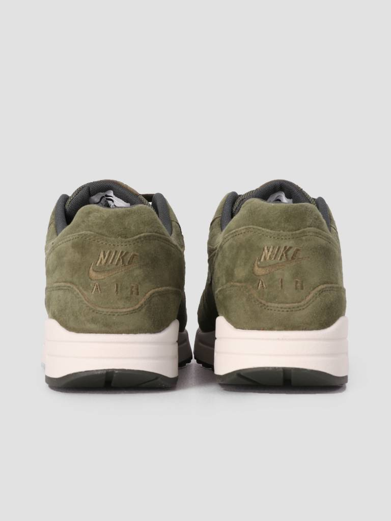 promo code 430df b2196 Nike Nike Air Max 1 Premium Shoe Olive Canvas Olive Canvas Sequoia 875844- 301