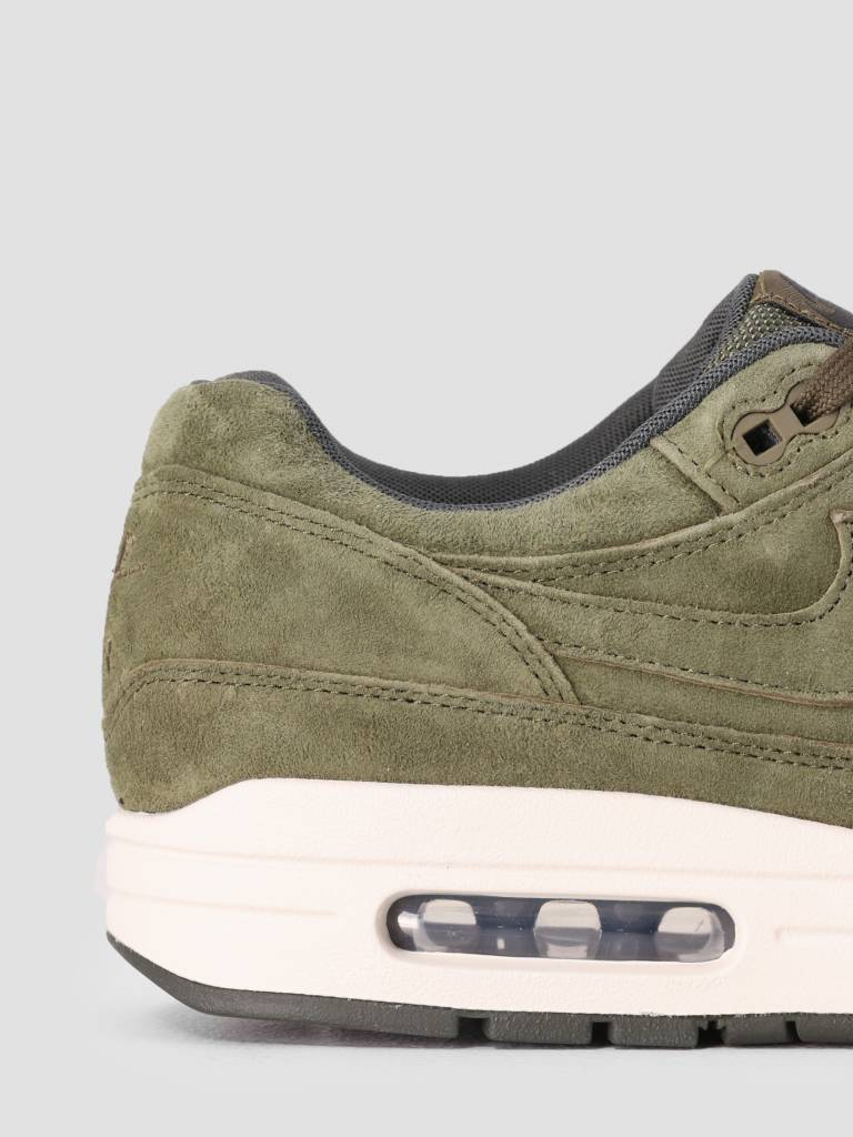 Nike Nike Air Max 1 Premium Shoe Olive Canvas Olive Canvas Sequoia 875844-301