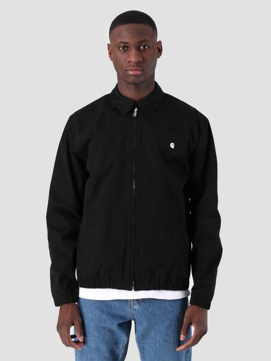 Carhartt WIP Madison Jacket Rinsed Black White I026487