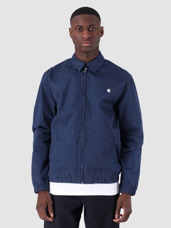 Carhartt WIP Madison Jacket Rinsed Blue Wax I026487