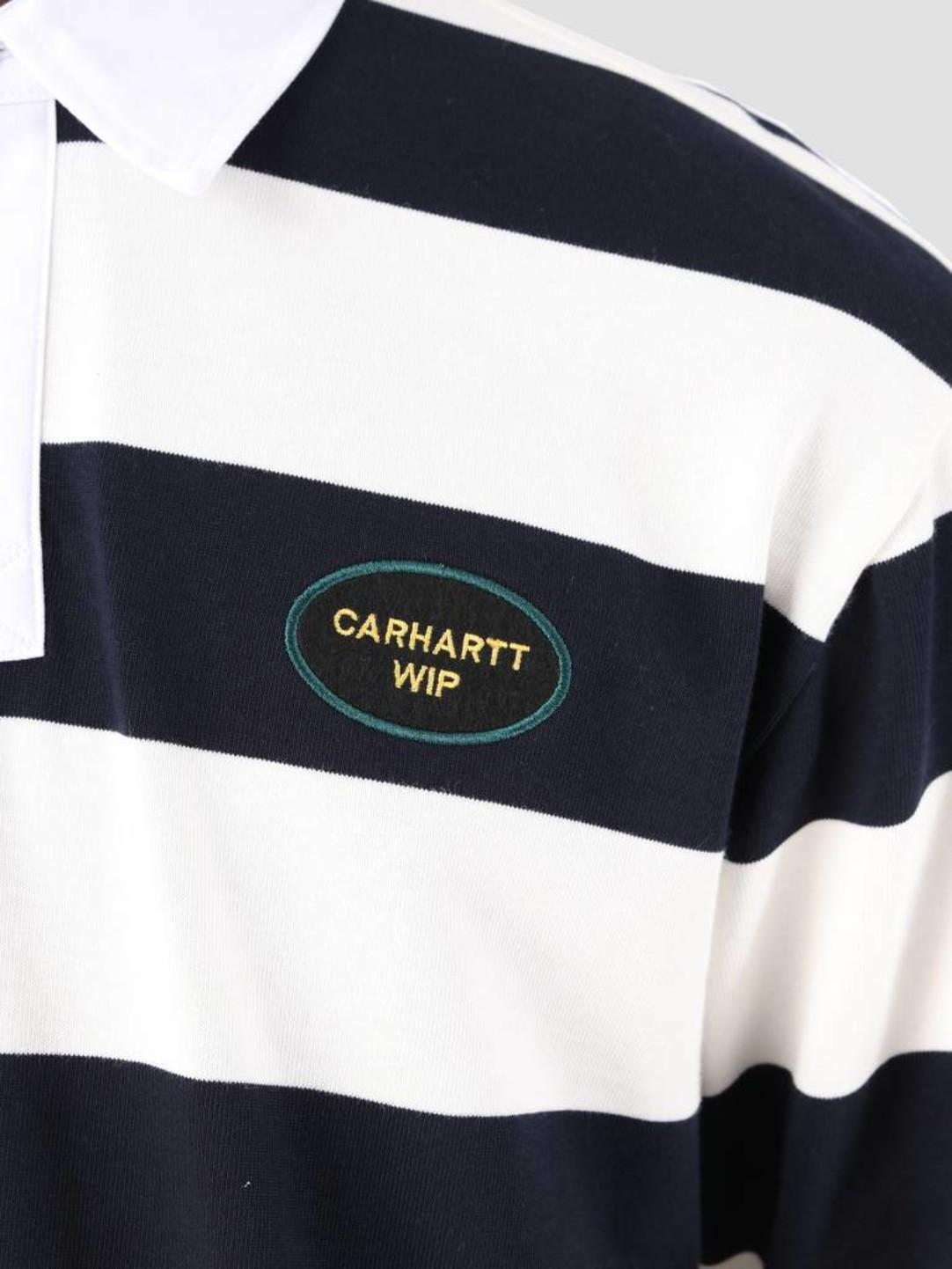 Carhartt WIP Carhartt WIP Longsleeve Roslyn Polo Wax Dark Navy I026246