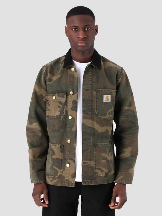 Carhartt WIP Michigan Coat Aged Canvas Camo Laurel I026480