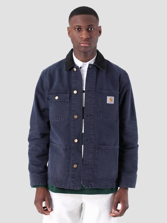 Carhartt WIP Michigan Coat Aged Canvas Dark Navy I026480
