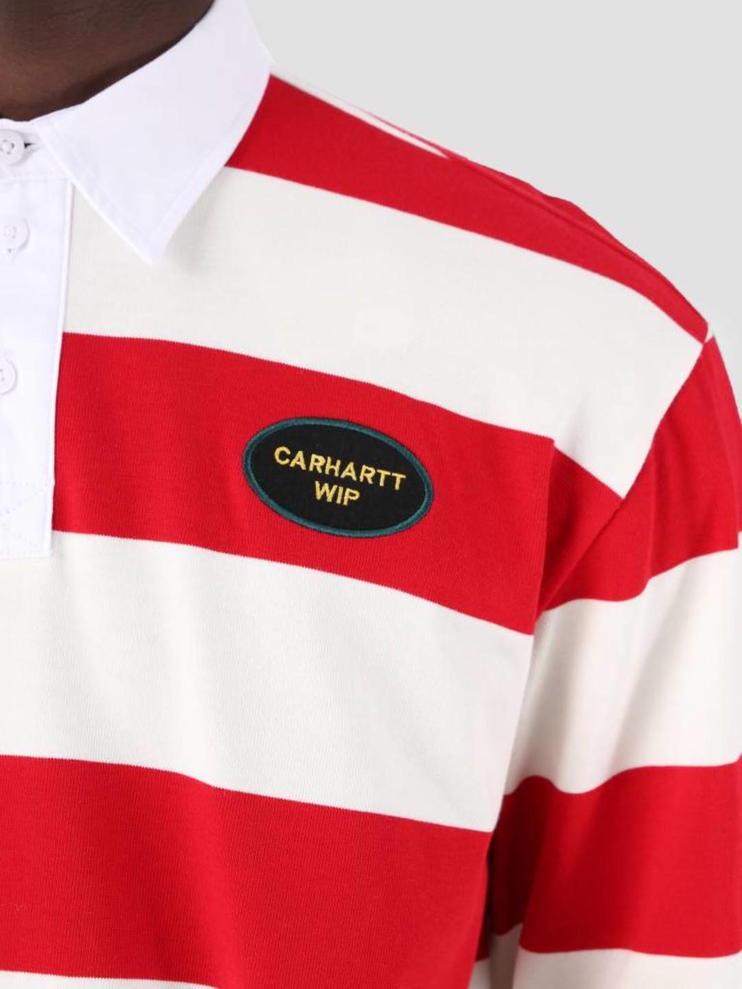 Carhartt WIP Carhartt WIP Longsleeve Roslyn Polo Wax Cardinal I026246
