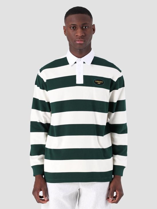 Carhartt WIP Longsleeve Roslyn Polo Wax Bottle Green I026246