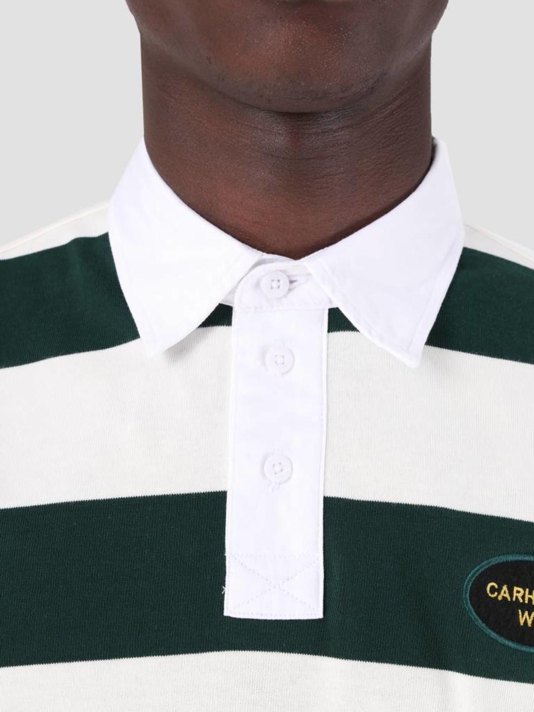 Carhartt WIP Carhartt WIP Longsleeve Roslyn Polo Wax Bottle Green I026246