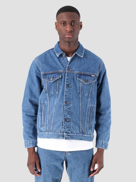 Carhartt WIP Western Jacket Stone Washed Blue I026544