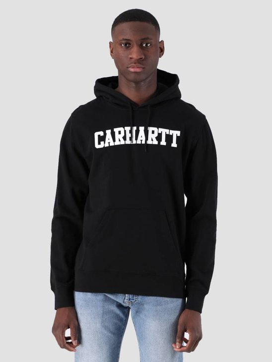Carhartt WIP Hooded College Sweat Black White I024669