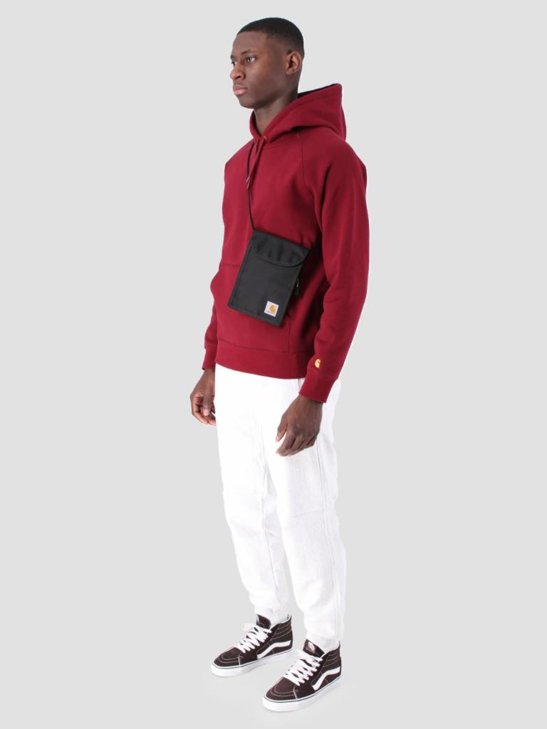 Carhartt WIP Carhartt WIP Hooded Chase Sweat Cranberry Gold I026384