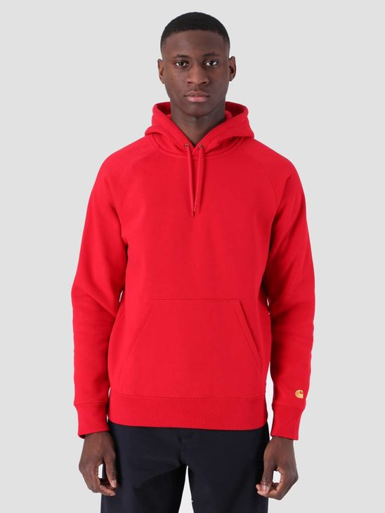 Carhartt WIP Hooded Chase Sweat Cardinal Gold I026384