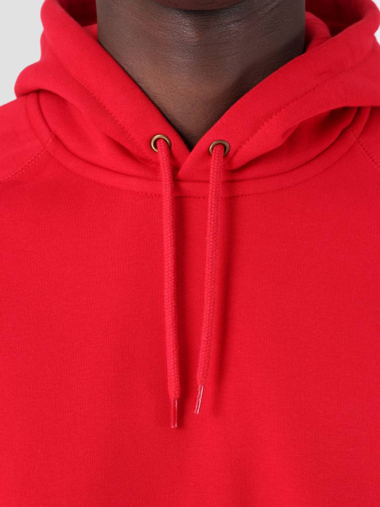 Carhartt WIP Carhartt WIP Hooded Chase Sweat Cardinal Gold I026384