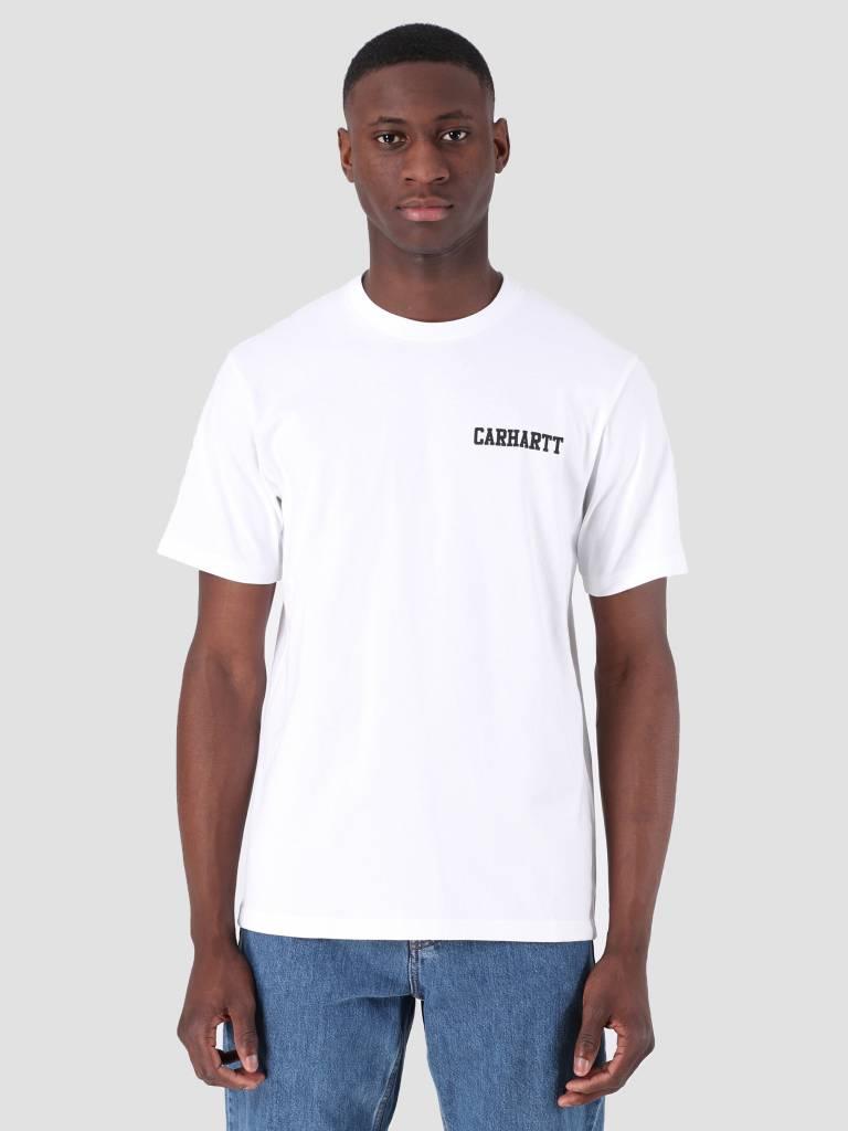 Carhartt WIP Carhartt WIP College Script T-Shirt White Black I024806