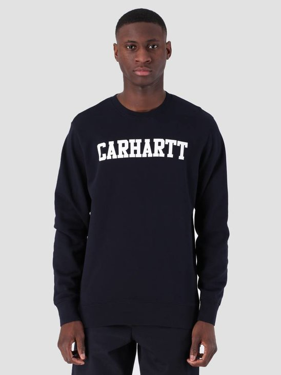 Carhartt WIP College Sweat Dark Navy White I024668