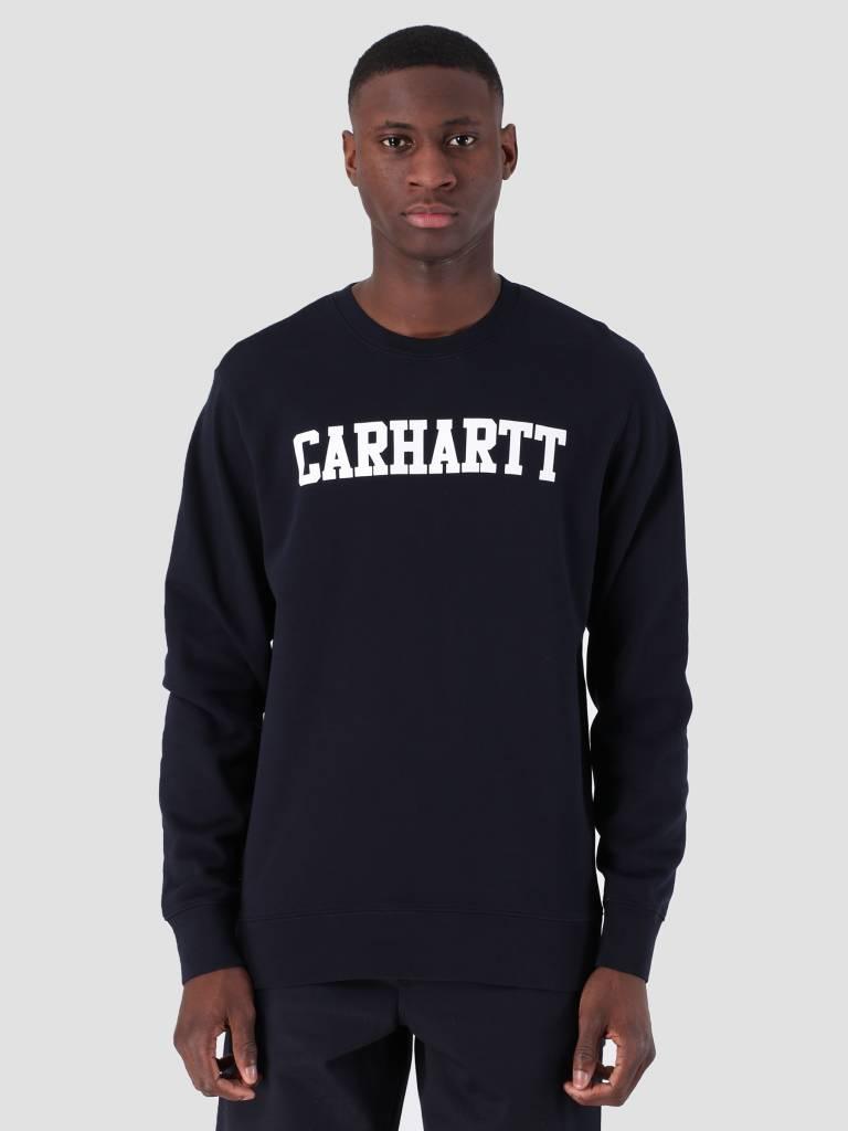 890a8afb650 Carhartt WIP College Sweat Dark Navy White I024668 - FRESHCOTTON