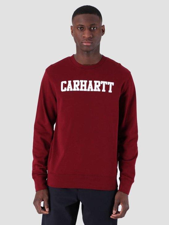Carhartt College Sweat Cranberry White I024668