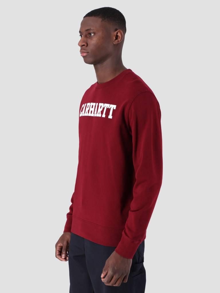 Carhartt WIP Carhartt WIP College Sweat Cranberry White I024668