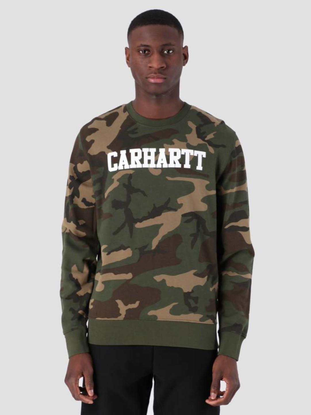 Carhartt WIP Carhartt WIP College Sweat Camo Laurel White I024668