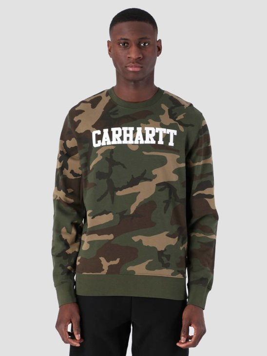 Carhartt WIP College Sweat Camo Laurel White I024668
