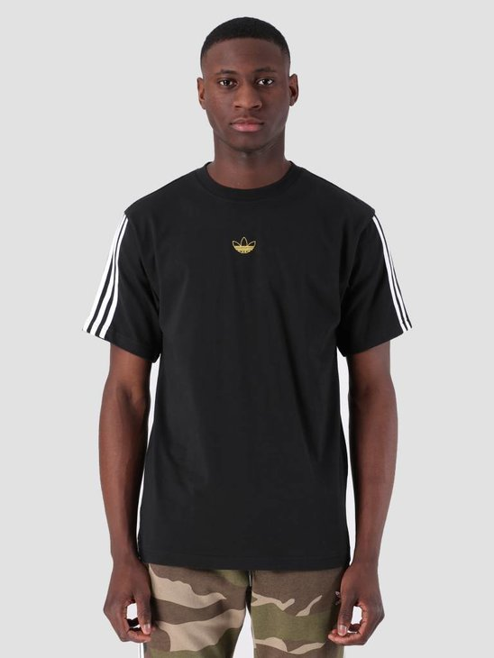 adidas Floating T-Shirt Black White DV3262