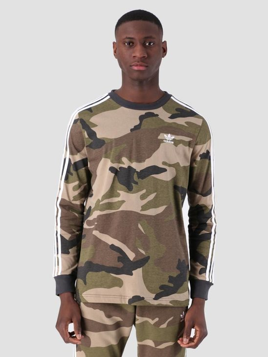 adidas Camo Longsleeve T-Shirt Multco Utiblk DV2055