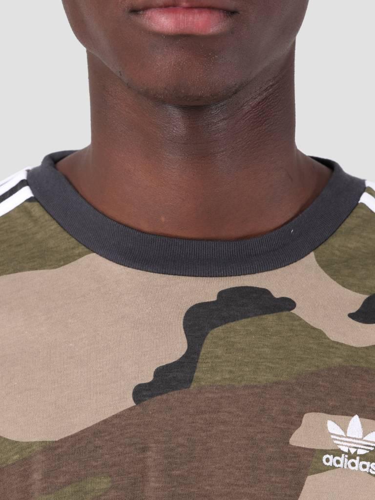 adidas adidas Camo Longsleeve T-Shirt Multco Utiblk DV2055
