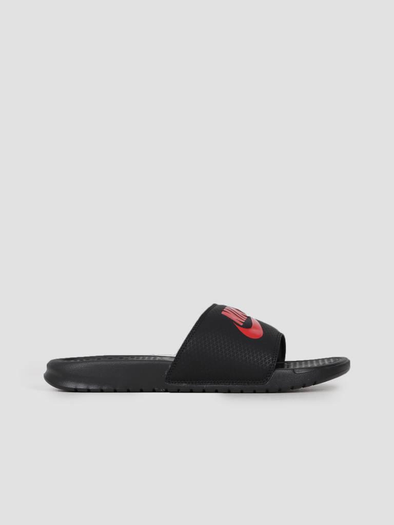Nike Benassi Just Do It. Sandal Black Challenge Red 343880-060