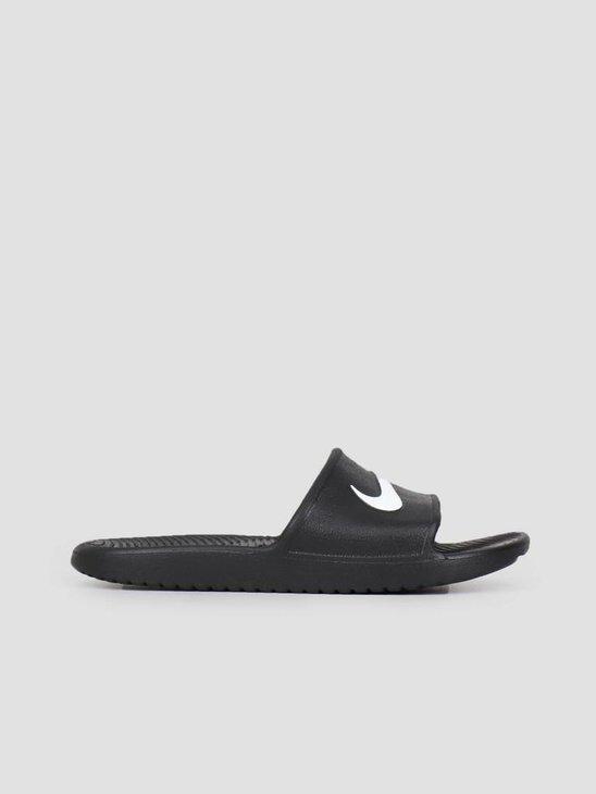 Nike Kawa Shower Slide Black White 832528-001