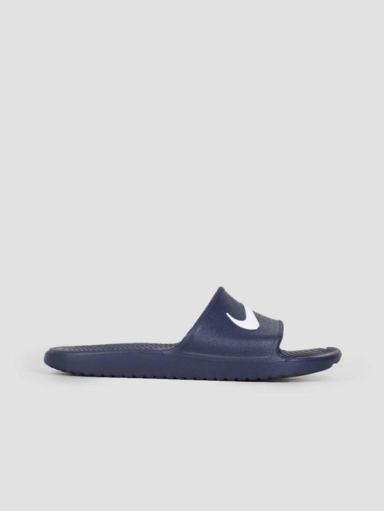 Nike Kawa Shower Slide Midnight Navy White 832528-400