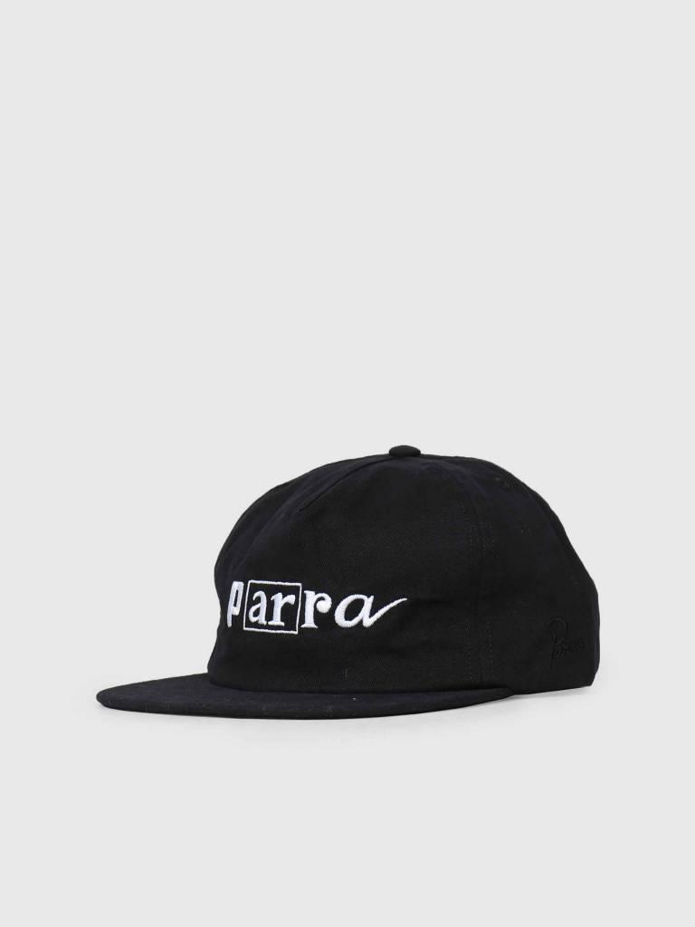 By Parra By Parra 5 Panel Hat Script Box Logo Black 42220