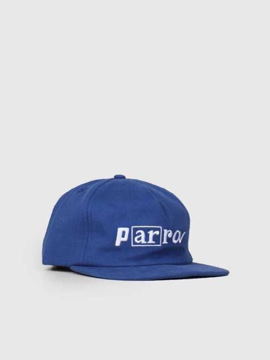By Parra 5 Panel Hat Script Box Logo Blue 42230