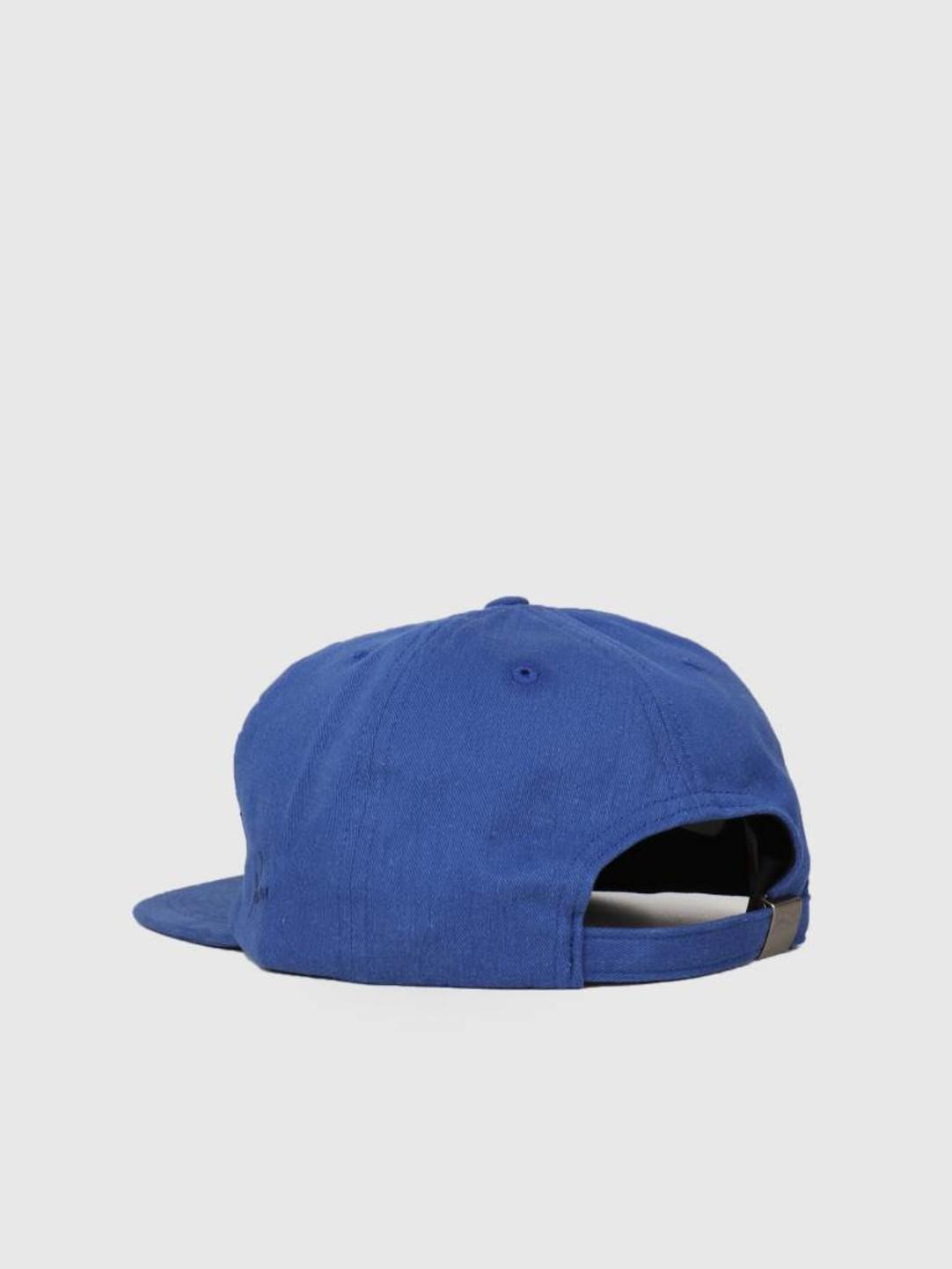 By Parra By Parra 5 Panel Hat Script Box Logo Blue 42230