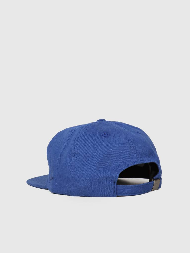 By Parra By Parra 5 Panel Hat Script Box Logo Blue 42230