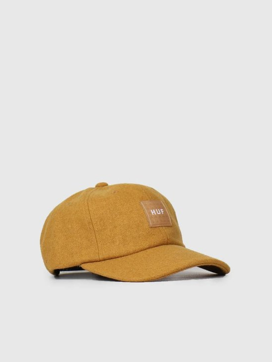 HUF Wool Box Logo 6 Panel Hat Honey Mustard HT00258