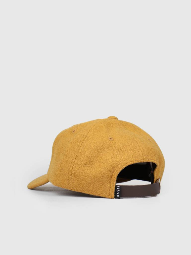 HUF HUF Wool Box Logo 6 Panel Hat Honey Mustard HT00258