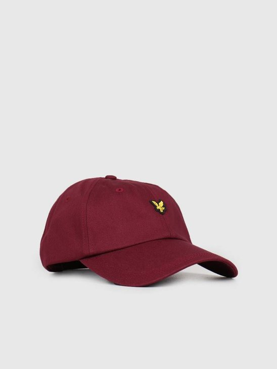 Lyle and Scott Baseball Cap 477 Claret Jug HE906A