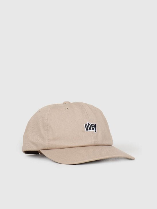 Obey Highland 6 Panel Snapback KHA 100580171