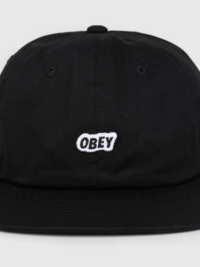 Obey Obey Sleeper 6 Panel Strapback BLK 100580174