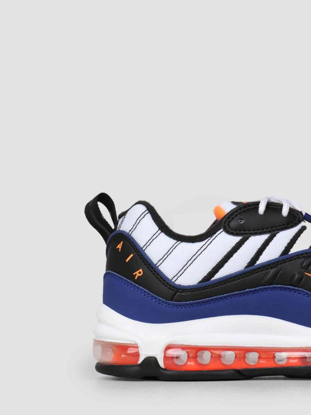finest selection a2b79 ddd37 Nike Air Max 98 White Deep Royal Blue-Total Orange-Black Cd1536-100
