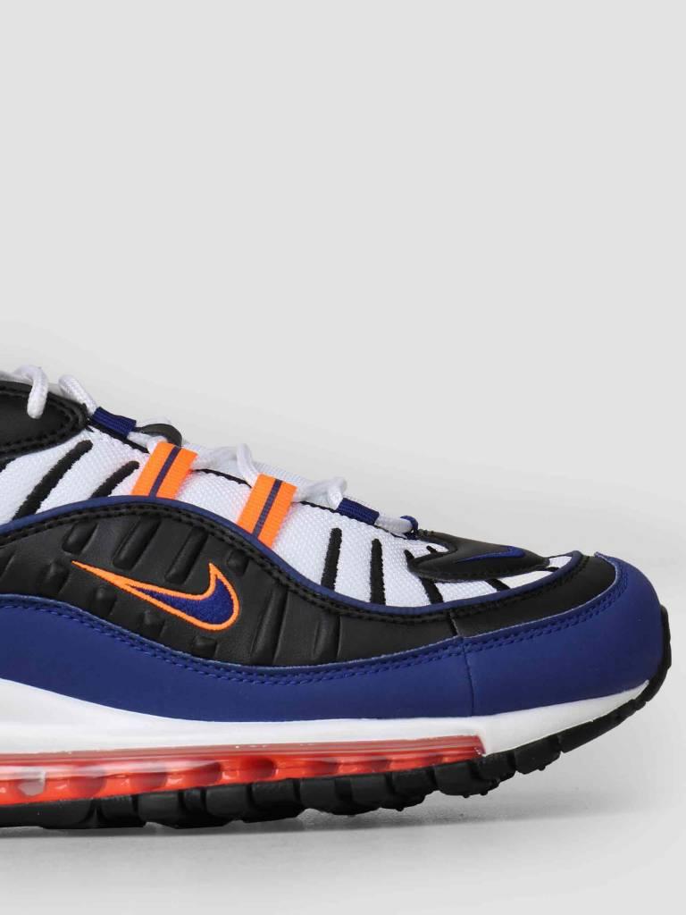 Nike Air Max 98 White Deep Royal Blue-Total Orange-Black Cd1536-100 ... 403d5ff2b17