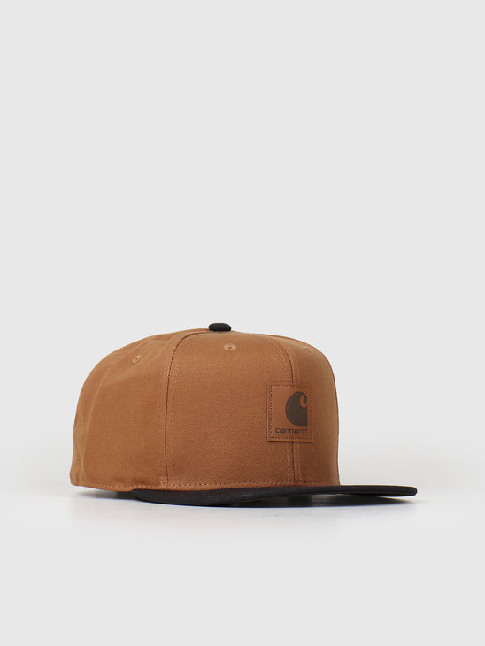 Carhartt WIP Logo Cap Bi-Colored Hamilton Brown Black I025735