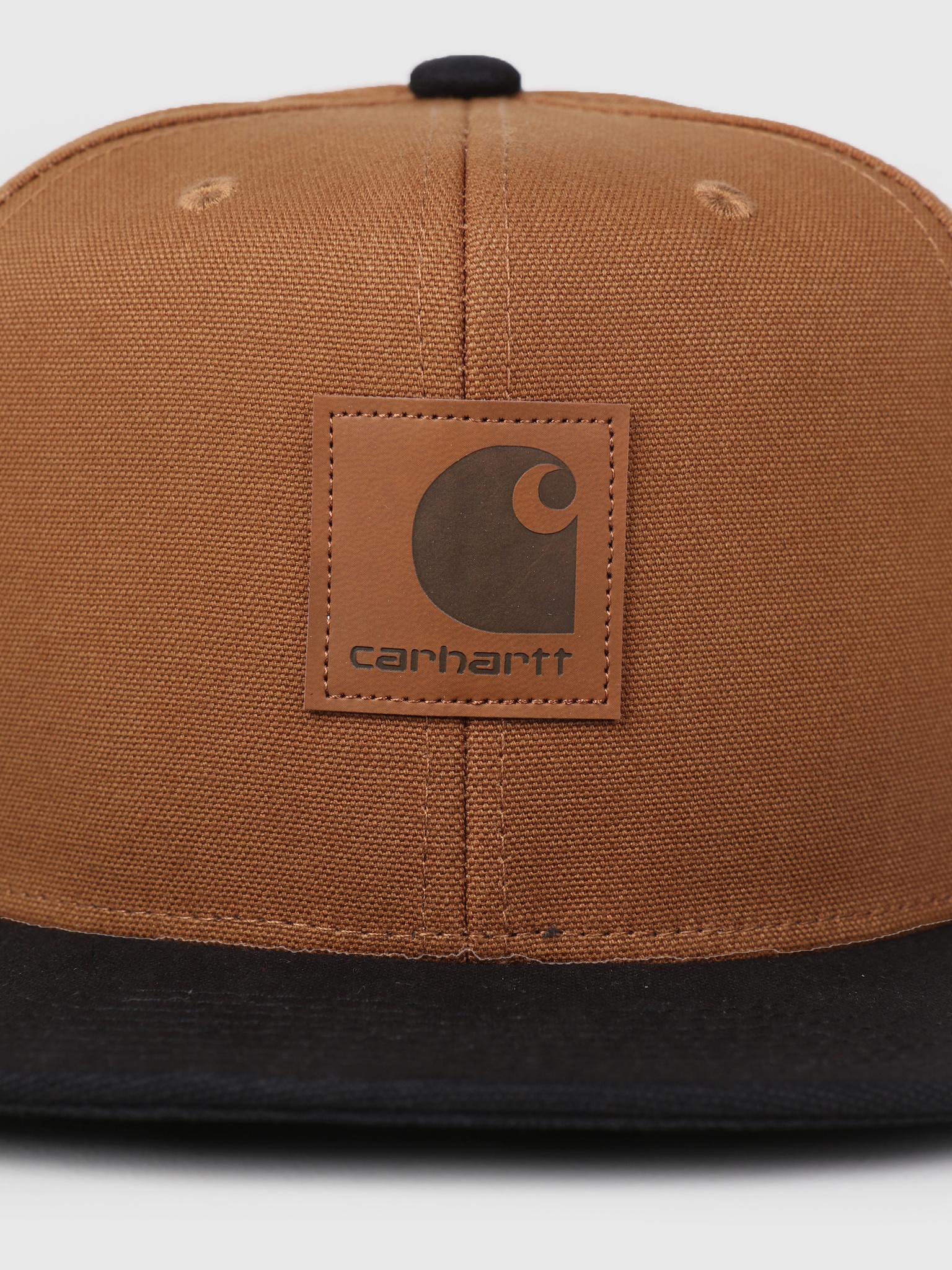 Carhartt WIP Carhartt WIP Logo Cap Bi-Colored Hamilton Brown Black I025735 b75885d16