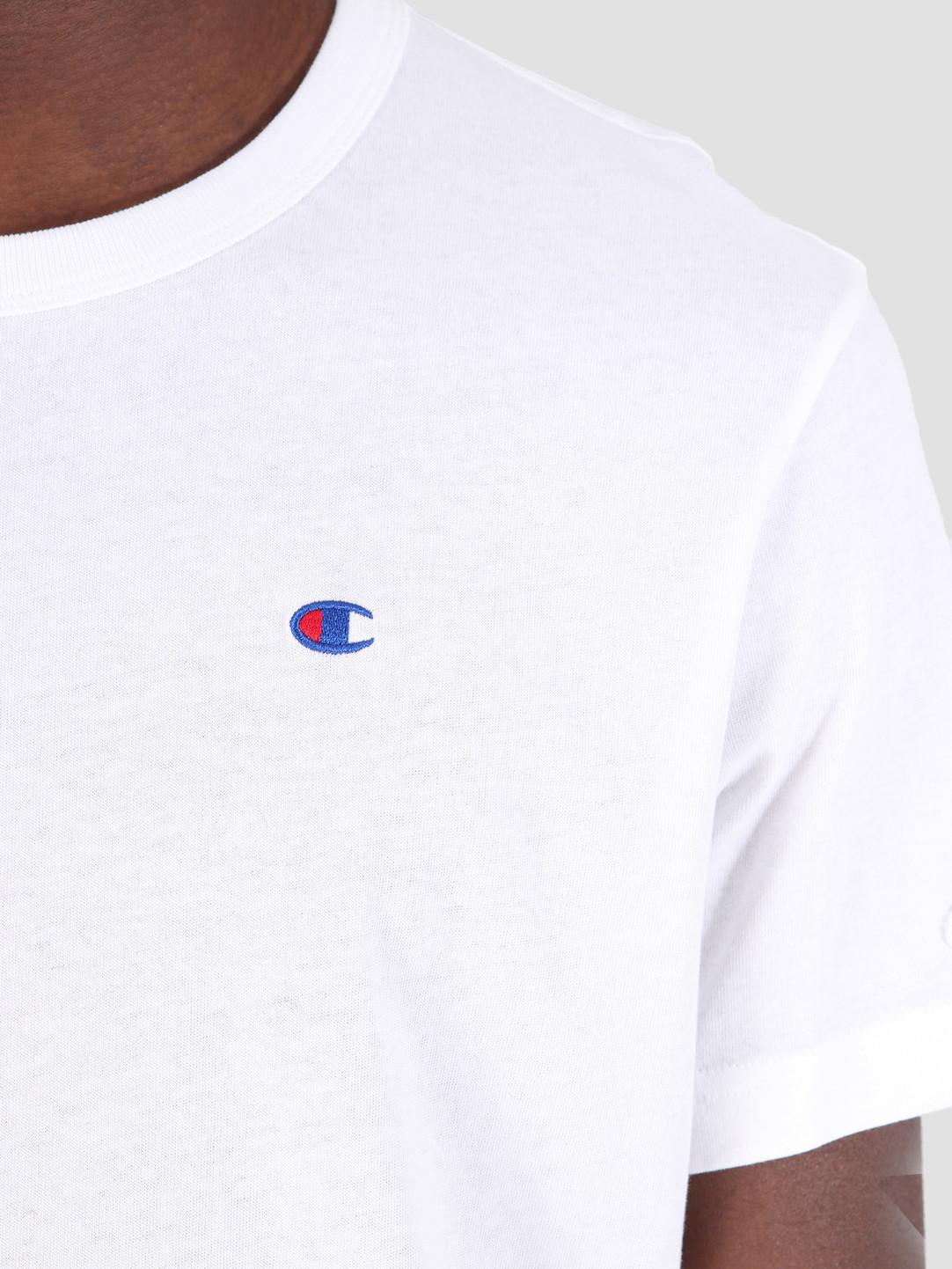 695e84e03ef7 Champion Crewneck T-Shirt WHT 212974 | FRESHCOTTON