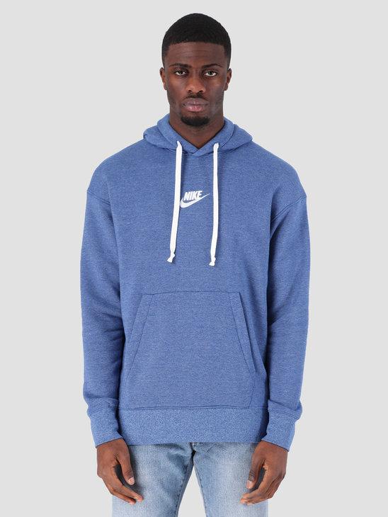 61cf33eab Nike Sportswear Heritage Hoodie Indigo Force Htr Sail 928437-438 ...