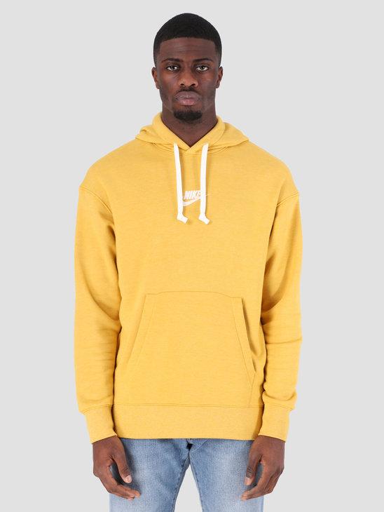 aa0691108 Nike Sportswear Heritage Hoodie Gold Dart Htr Sail 928437-711 ...