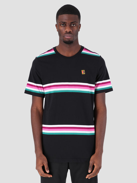 Nike Nikecourt T-Shirt Black Multi Color Ao1148-010