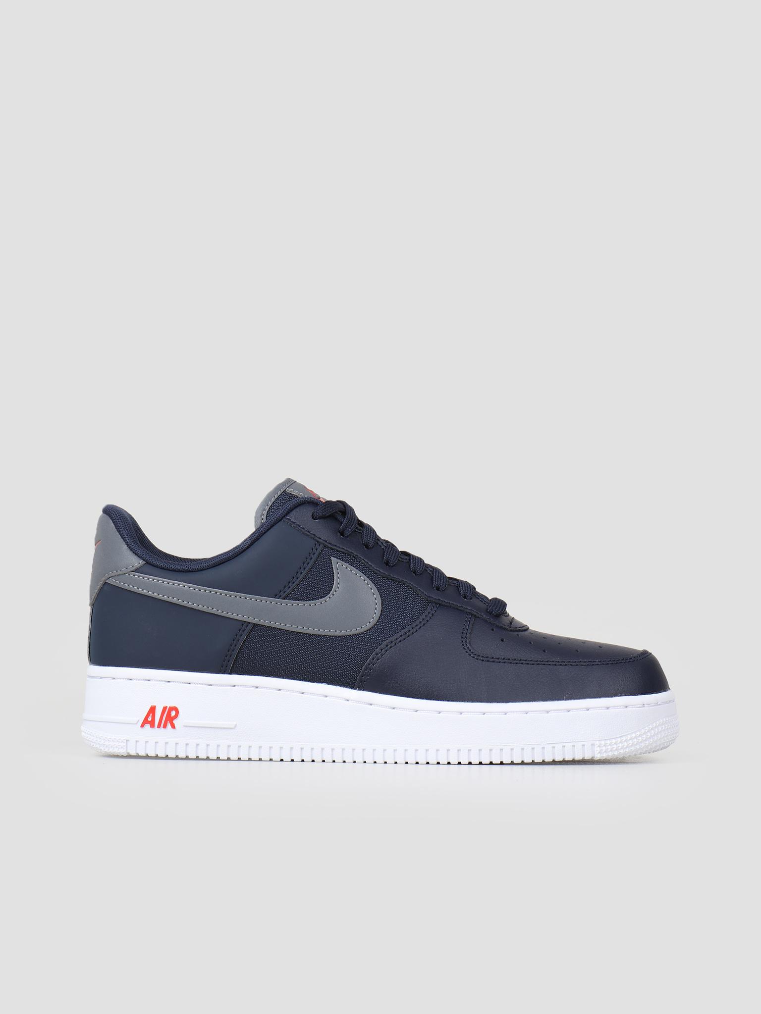 competitive price bd186 e347f Nike Nike Air Force 1  07 Lv8 Obsidian Cool Grey-Team Orange Bv1278-