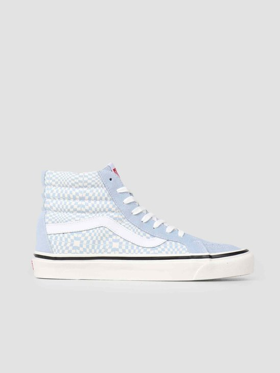 Vans UA Sk8-Hi 38 DX Anaheim OG Light Blue White Warp Check Vn0A38Gfvsg1