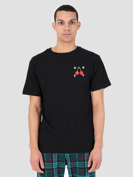 Obey Obey Cherries 2 T-Shirt BLK 163081895